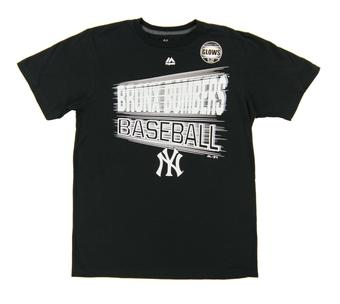New York Yankees Majestic Back At It Black Tee Shirt (Adult X-Large)