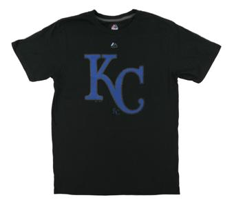 Kansas City Royals Majestic Black Superior Play Tee Shirt (Adult Small)
