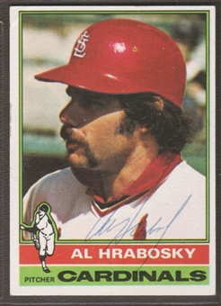 1976 Topps Baseball #315 Al Hrabosky Signed in Person Auto