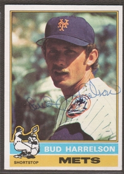 1976 Topps Baseball #337 Bud Harrelson Signed in Person Auto