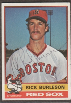 1976 Topps Baseball #29 Rick Burleson Signed in Person Auto