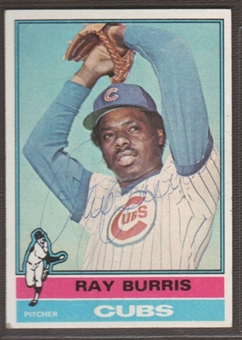1976 Topps Baseball #51 Ray Burris Signed in Person Auto