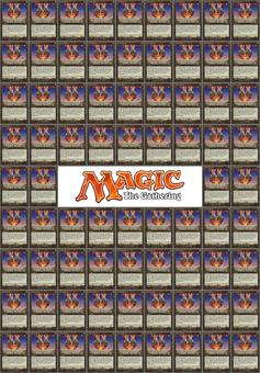 Magic the Gathering Lot 76 Chaos Confetti - NEAR MINT, SLEEVED, with a free Deckbox!