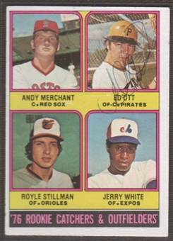 1976 Topps Baseball #594 Ed Ott Signed in Person Auto