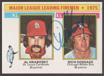 "1976 Topps Baseball #205 Rich ""Goose"" Gossage Signed in Person Auto"