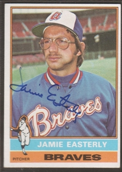1976 Topps Baseball #511 Jamie Easterly Signed in Person Auto