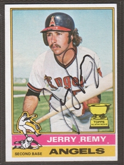 1976 Topps Baseball #229 Jerry Remy Signed in Person Auto