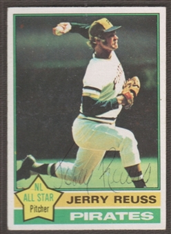 1976 Topps Baseball #60 Jerry Reuss Signed in Person Auto