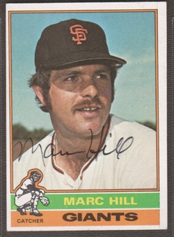 1976 Topps Baseball #577 Marc Hill Signed in Person Auto
