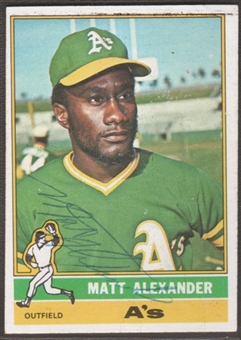 1976 Topps Baseball #382 Matt Alexander Signed in Person Auto