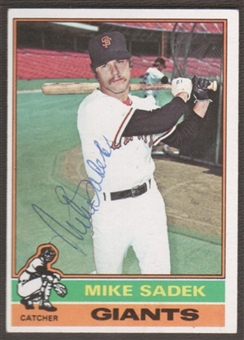 1976 Topps Baseball #234 Mike Sadek Signed in Person Auto