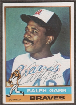 1976 Topps Baseball #410 Ralph Garr Signed in Person Auto