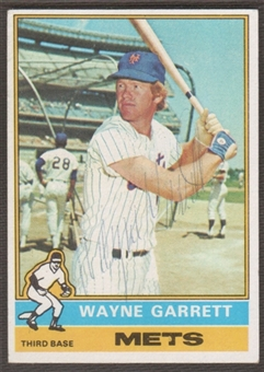 1976 Topps Baseball #222 Wayne Garrett Signed in Person Auto