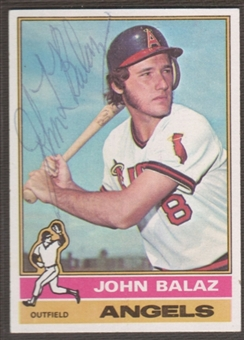 1976 Topps Baseball #539 John Balaz Signed in Person Auto