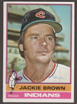 1976 Topps Baseball #301 Jackie Brown Signed in Person Auto