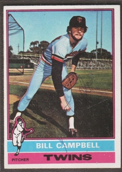 1976 Topps Baseball #288 Bill Campbell Signed in Person Auto