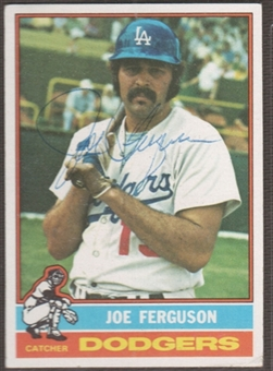 1976 Topps Baseball #329 Joe Ferguson Signed in Person Auto