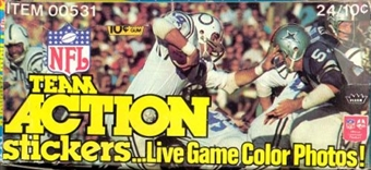 1976 Fleer in Action Football Wax Box