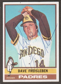 1976 Topps Baseball #217 Dave Freisleben Signed in Person Auto