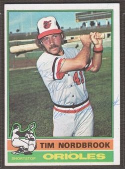 1976 Topps Baseball #252 Tim Nordbrook Signed in Person Auto