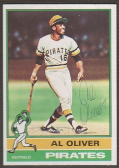 1976 Topps Baseball #620 Al Oliver Signed in Person Auto