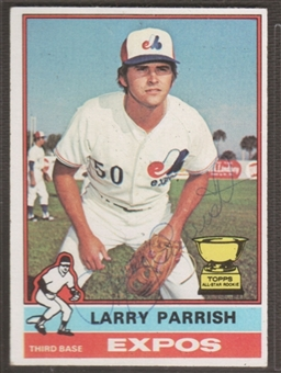 1976 Topps Baseball #141 Larry Parrish Signed in Person Auto