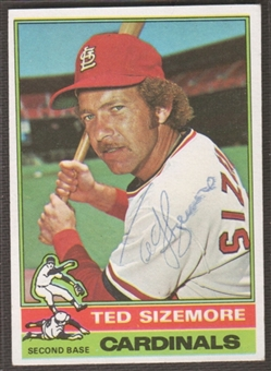 1976 Topps Baseball #522 Ted Sizemore Signed in Person Auto