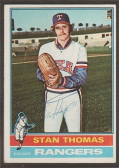 1976 Topps Baseball #148 Stan Thomas Signed in Person Auto