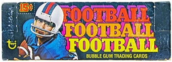 1976 Topps Football Wax Box