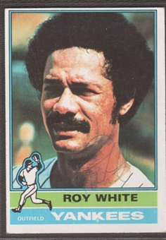 1976 Topps Baseball #225 Roy White Signed in Person Auto