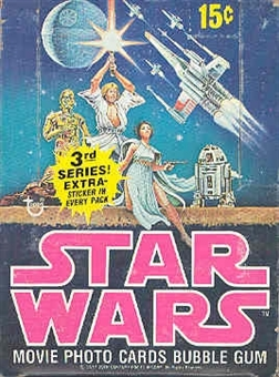 Star Wars 3rd Series Wax Box (1977-78 Topps)
