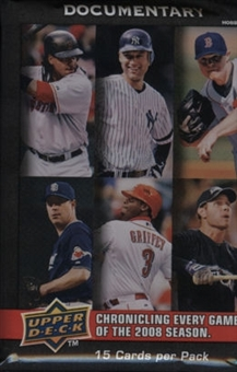 2008 Upper Deck Documentary Baseball Hobby Pack