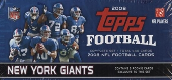 2008 Topps Football Factory Set (Box) (New York Giants)