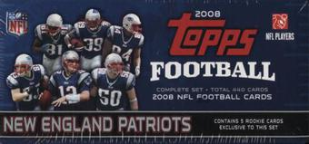 2008 Topps Football Factory Set (Box) (New England Patriots)