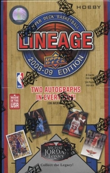 2008/09 Upper Deck Lineage Basketball Hobby Box
