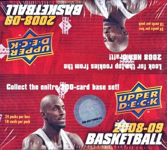2008/09 Upper Deck Basketball 24-Pack Box
