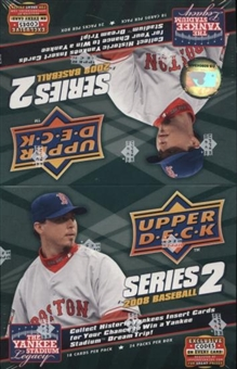 2008 Upper Deck Series 2 Baseball 24-Pack Box