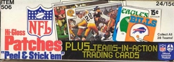 1977 Fleer in Action Football Wax Box