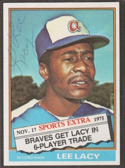 1977 Topps Baseball #272 Lee Lacy Signed in Person Auto