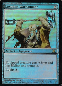 Magic the Gathering 10th Edition Single Loxodon Warhammer Foil