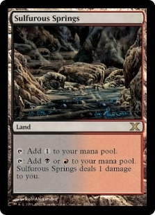 Magic the Gathering 10th Edition Single Sulfurous Springs - NEAR MINT (NM)