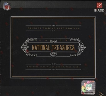 2008 Playoff National Treasures Football Hobby Box