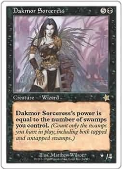 Magic the Gathering Starter Single Dakmor Sorceress - SLIGHT PLAY (SP)