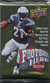 2008 Upper Deck Heroes Football Retail 24-Pack Lot
