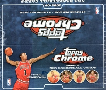 2008/09 Topps Chrome Basketball 24-Pack Box