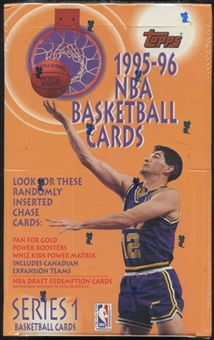 1995/96 Topps Series 1 Basketball Retail Box