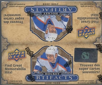 2008/09 Upper Deck Artifacts Hockey 24 Pack Box