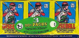 1979 Topps Baseball Wax Pack Tray (3 Packs)