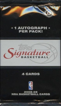 2008/09 Topps Signature Basketball Hobby Pack