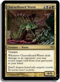 Magic the Gathering Conflux Single Charnelhoard Wurm Foil